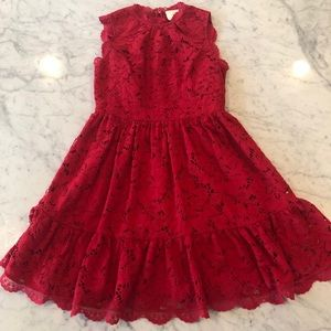 Red Lace Kate Spade dress